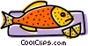 Fish with lemon Vector Clipart illustration