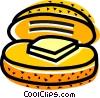 Vector Clip Art image  of a Buns and Rolls