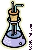 Vector Clip Art image  of a Beakers Flasks and Test Tubes