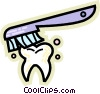 Vector Clipart picture  of a Teeth and Oral Hygiene