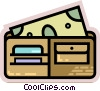 Vector Clipart image  of a Wallets