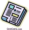 Vector Clipart illustration  of a Periodicals Newspapers