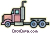 Vector Clip Art picture  of a Transport Trucks