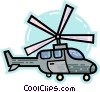 Vector Clipart graphic  of a Helicopters