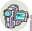 Vector Clip Art picture  of a Video Cameras