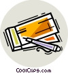 Checks Vector Clipart illustration