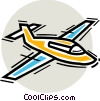 Vector Clipart illustration  of a Lear Jets