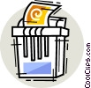 Vector Clipart illustration  of a Shredder