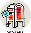 Vector Clip Art picture  of a Mailboxes