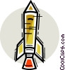 Vector Clipart graphic  of a Rockets