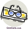 Vector Clipart image  of a Glasses and Eyeglasses