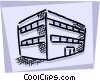 Generic Buildings Vector Clipart picture