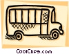 Vector Clip Art image  of a School Buses