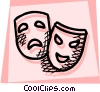 Drama masks Vector Clipart picture