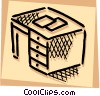 Vector Clip Art image  of a Desktop