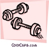 Bodybuilding and Weight lifting Vector Clipart image