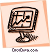 Monitors Vector Clip Art graphic