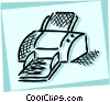 Vector Clip Art graphic  of a Printers