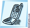 Cellular Wireless and Cordless Phones Vector Clipart image