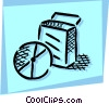 Vector Clip Art graphic  of a Software Packages