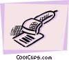 Hand Scanners Vector Clipart illustration