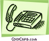 Vector Clip Art image  of a Home Phones