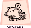 Piggy Banks Vector Clip Art graphic
