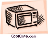 Microwave Oven Vector Clipart illustration