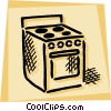 Vector Clip Art graphic  of a Electric Ovens