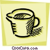 Vector Clipart picture  of a Measuring Cups