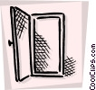 Vector Clipart image  of a Doorways