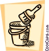 Paint Cans Vector Clip Art graphic