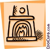 Fireplace Vector Clip Art picture