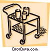 Vector Clipart illustration  of a Serving Trays