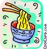 Vector Clip Art graphic  of a Chinese noodles