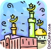 Vector Clip Art image  of a Islamic Minarets
