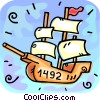 Vector Clip Art graphic  of a The Nina Christopher Columbus ship
