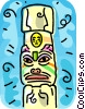 totem pole Vector Clipart picture