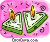 Candles Vector Clip Art image