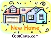 New home Vector Clipart picture