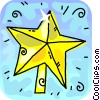 Vector Clipart image  of a Christmas star