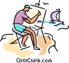 Vector Clipart image  of a painters