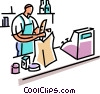 Vector Clipart illustration  of a Miscellaneous Grocery Store