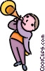 boy playing the trumpet Vector Clip Art picture