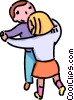 boy and a girls dancing Vector Clipart picture