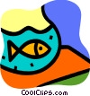 Fishbowls Vector Clip Art picture