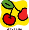 Vector Clipart graphic  of a Cherries