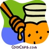 Vector Clip Art image  of a Honey