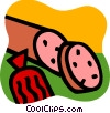 Vector Clip Art graphic  of a Cold Cuts