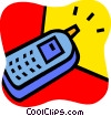 Cellular Wireless and Cordless Phones Vector Clipart graphic